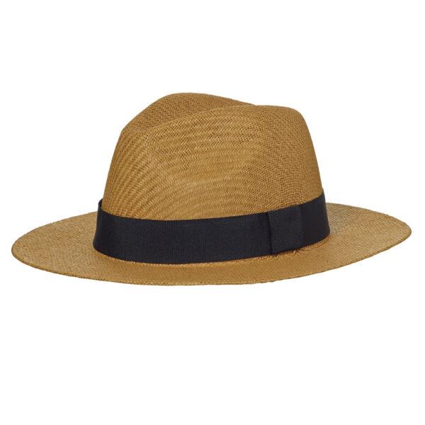 chapeau de paille ruban noir personnalisé Pointe Rouge