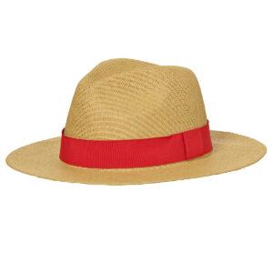 chapeau paille ruban rouge personnalisé Pointe Rouge
